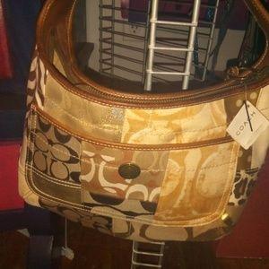 NWT Carly Tan Canvas Hobo Bag